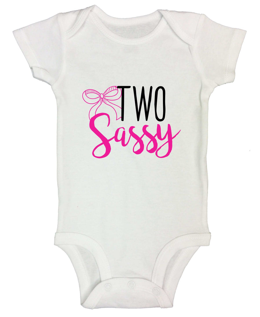 Two Sassy Funny Kids bodysuit Funny Shirt Short Sleeve 0-3 Months