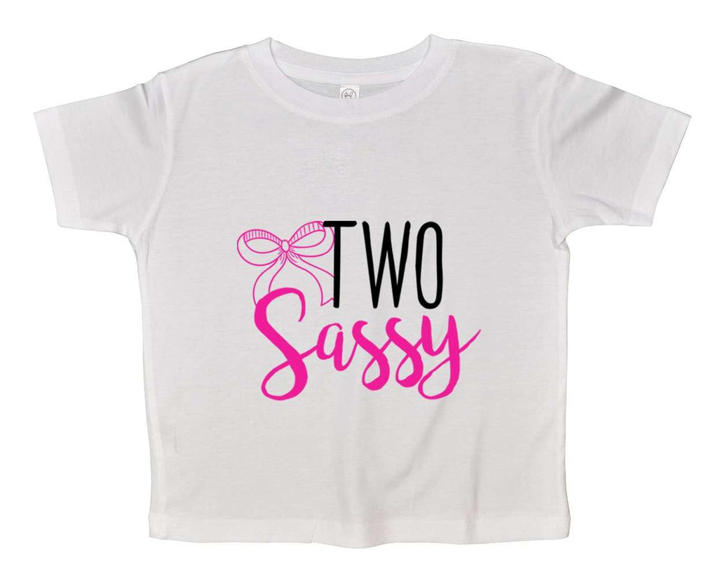 Two Sassy Funny Kids bodysuit Funny Shirt 2T White Shirt