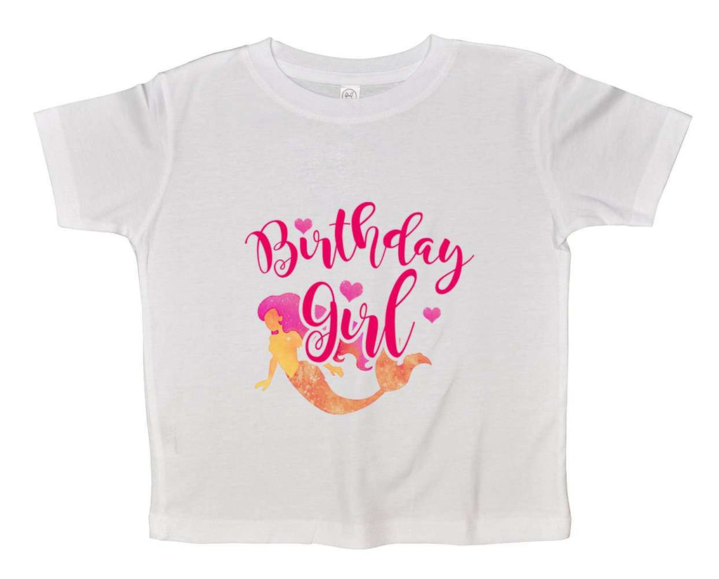 Birthday Girl Mermaid Funny Kids bodysuit Funny Shirt 2T White Shirt