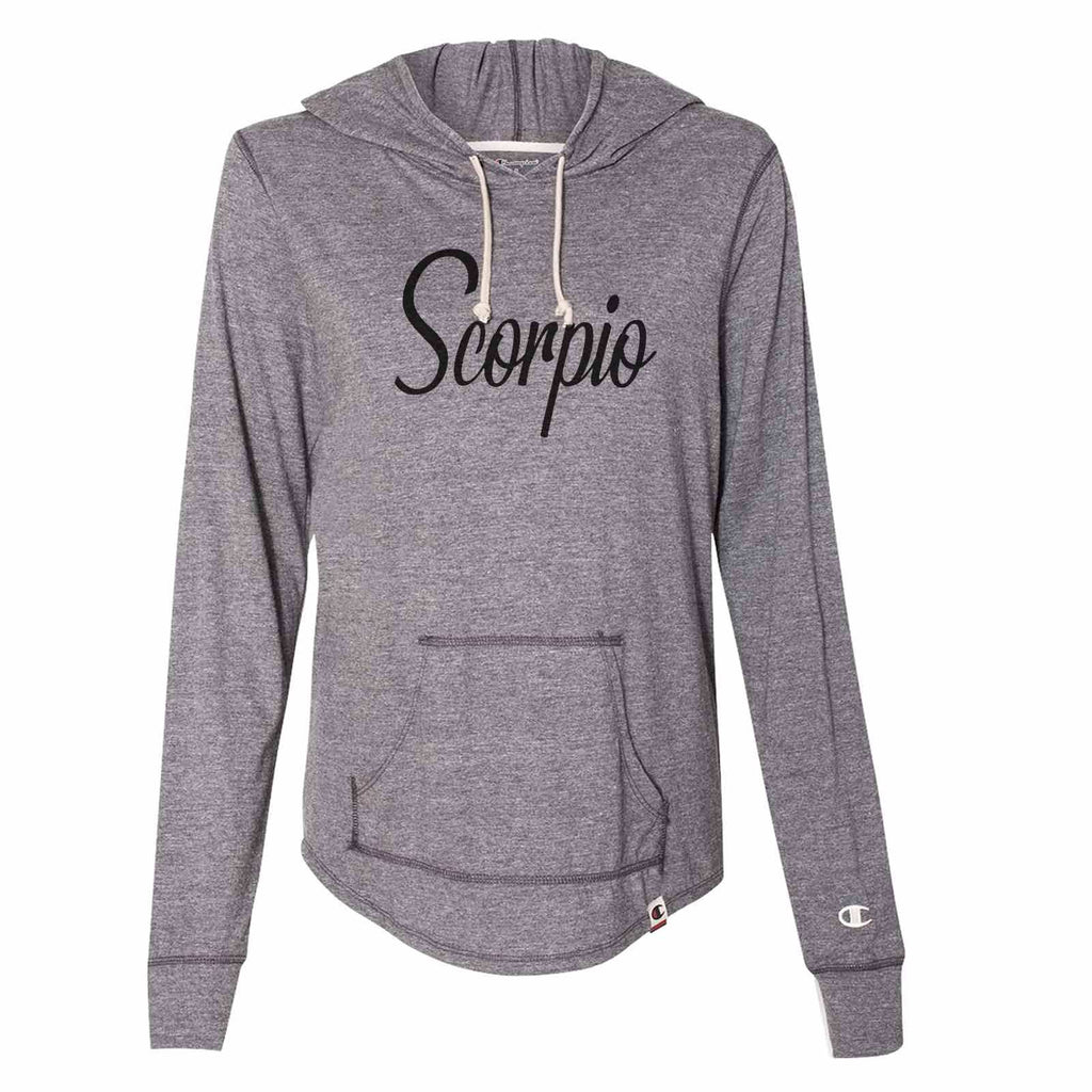 Scorpio - Womens Champion Brand Hoodie - Hooded Sweatshirt Funny Shirt Small / Dark Grey