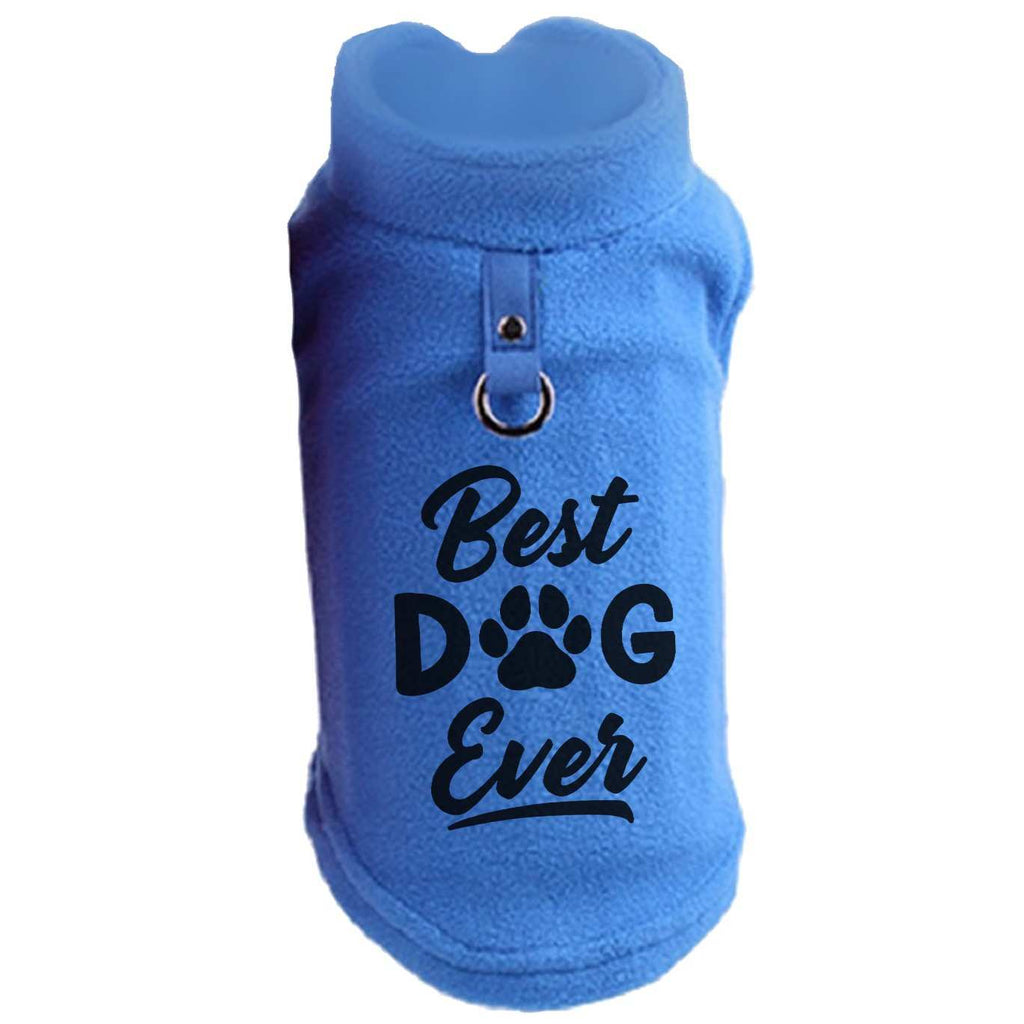 Best Dog Ever Paw Print Cute Tee - Funny Dog T-shirt Vest Fleece - Dog Pet Shirt Funny Shirt