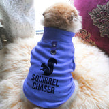 Squirrel Chaser Paw Print Cute Tee - Funny Dog T-Shirt Vest Fleece - Dog Pet Shirt Funny Shirt Extra Small / Blue