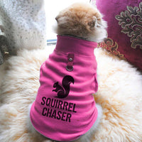 Squirrel Chaser Paw Print Cute Tee - Funny Dog T-Shirt Vest Fleece - Dog Pet Shirt Funny Shirt Extra Small / Pink