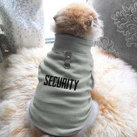Security Paw Print Cute Tee - Funny Dog T-Shirt Vest Fleece - Dog Pet Shirt Funny Shirt Extra Small / Grey