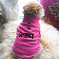 Security Paw Print Cute Tee - Funny Dog T-Shirt Vest Fleece - Dog Pet Shirt Funny Shirt Extra Small / Pink