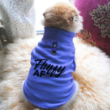 Fluffy AF Paw Print Cute Tee - Funny Dog T-Shirt Vest Fleece - Dog Pet Shirt Funny Shirt Extra Small / Blue