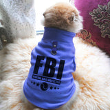 FBI Federal Ball Inspector Paw Print Cute Tee - Funny Dog T-Shirt Vest Fleece - Dog Pet Shirt Funny Shirt Extra Small / Blue