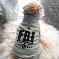 FBI Federal Ball Inspector Paw Print Cute Tee - Funny Dog T-Shirt Vest Fleece - Dog Pet Shirt Funny Shirt Extra Small / Grey