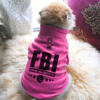 FBI Federal Ball Inspector Paw Print Cute Tee - Funny Dog T-Shirt Vest Fleece - Dog Pet Shirt Funny Shirt Extra Small / Pink