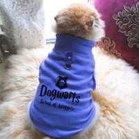 Dogwarts School Of Waggely Paw Print Cute Tee - Funny Dog T-Shirt Vest Fleece - Dog Pet Shirt Funny Shirt