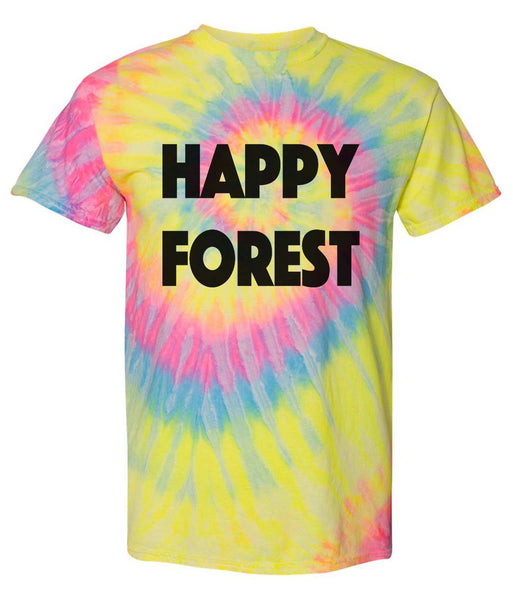 Electric Forest Festival Tshirt Unisex Happy Forest Tie Die Tshirt Funny Shirt