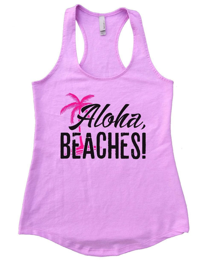 Aloha Beaches Womens Workout Tank Top Funny Shirt Small / Lilac