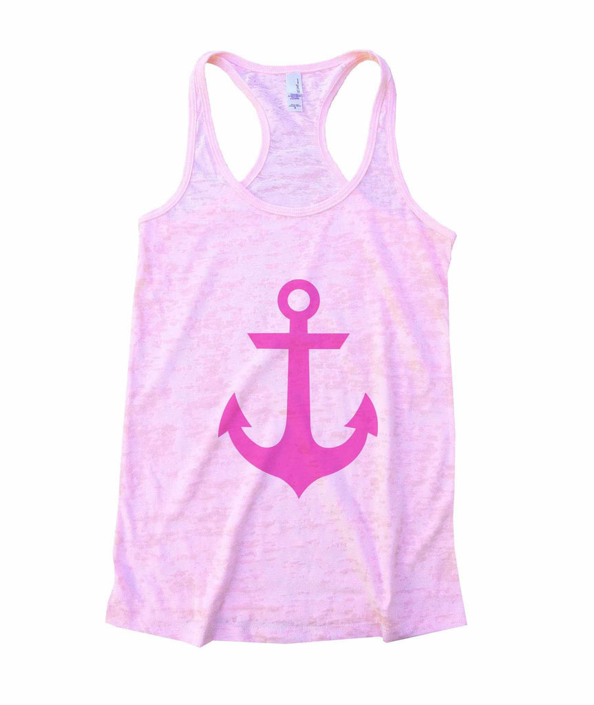 Anchor Burnout Tank Top By Funny Threadz