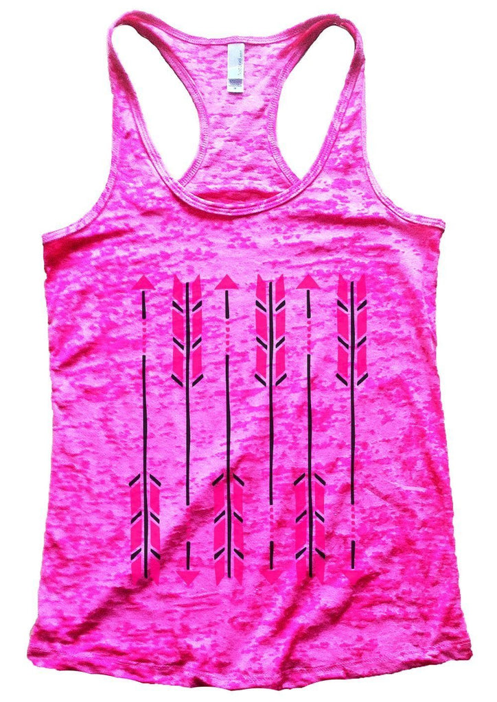 Arrow Burnout Tank Top By Funny Threadz Funny Shirt Small / Shocking Pink