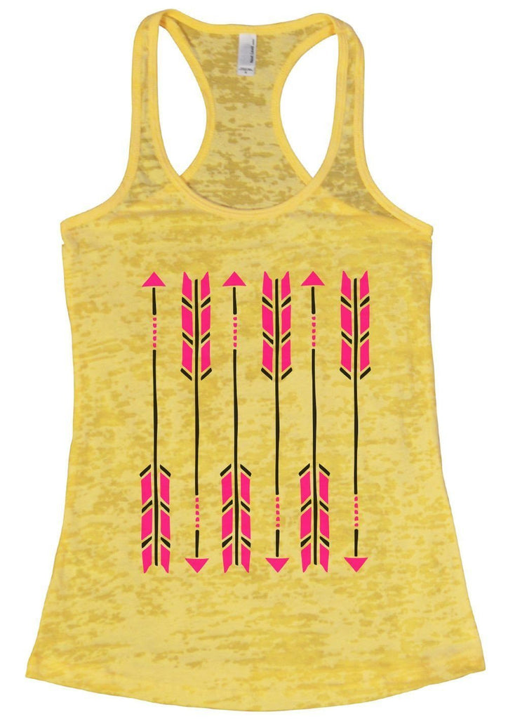Arrow Burnout Tank Top By Funny Threadz Funny Shirt Small / Yellow
