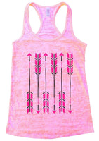 Arrow Burnout Tank Top By Funny Threadz Funny Shirt Small / Light Pink