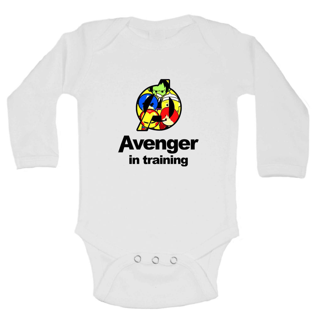 Avenger In Training Funny Kids Onesie - FunnyThreadz.com