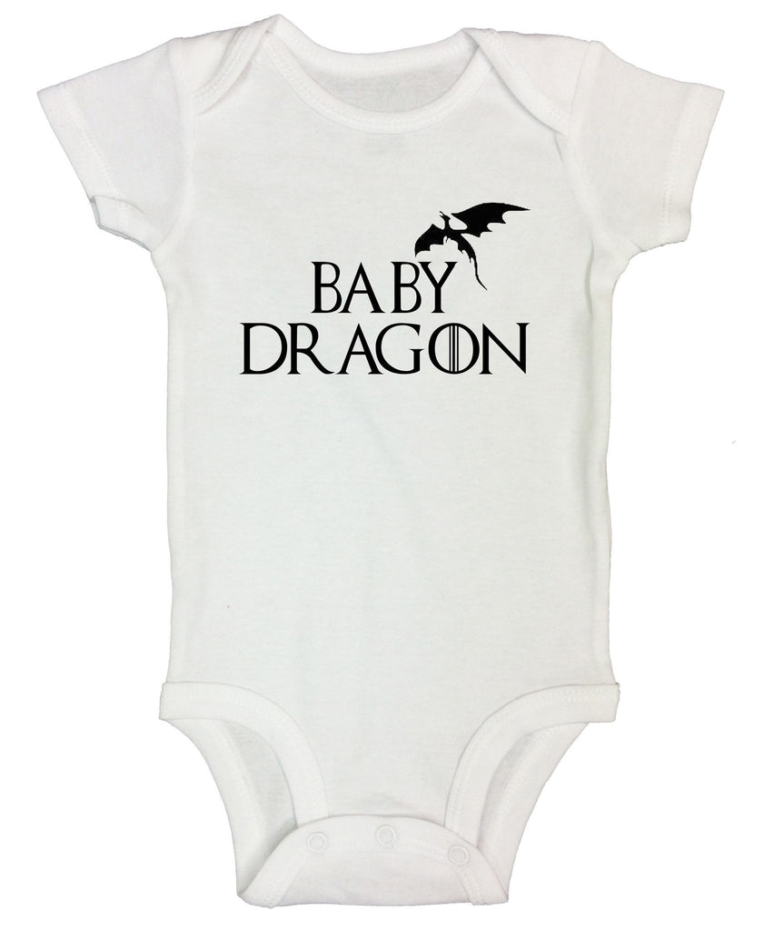 Baby Dragon Funny Kids bodysuit Funny Shirt Short Sleeve 0-3 Months