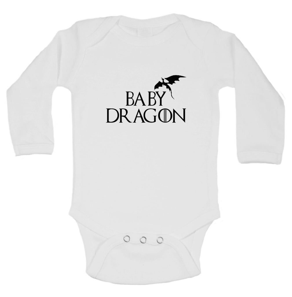 Baby Dragon Funny Kids bodysuit Funny Shirt Long Sleeve 0-3 Months