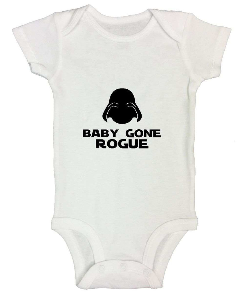 Baby Gone Rogue Funny Kids Onesie Funny Shirt Short Sleeve 0-3 Months