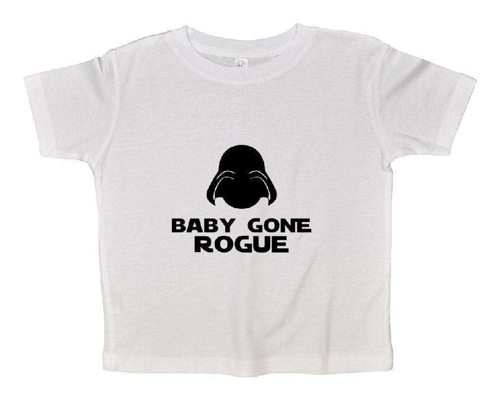 Baby Gone Rogue Funny Kids Onesie Funny Shirt 2T White Shirt
