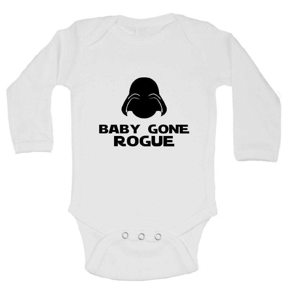 Baby Gone Rogue Funny Kids Onesie Funny Shirt Long Sleeve 0-3 Months