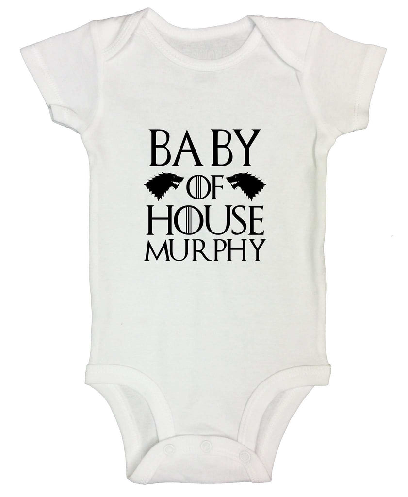 Baby Of House Murphy Funny Kids Onesie - FunnyThreadz.com