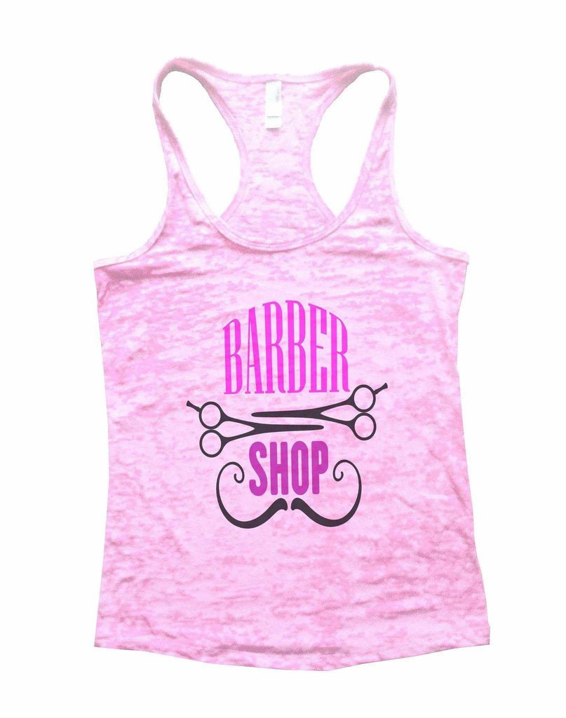 Barber Shop Burnout Tank Top By Funny Threadz Funny Shirt Small / Light Pink