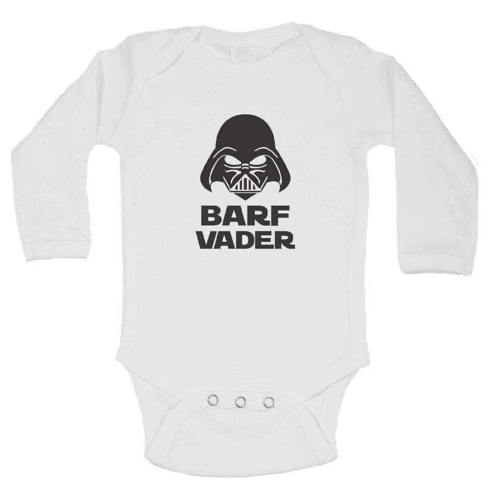 Barf Vader FUNNY KIDS ONESIE Funny Shirt Long Sleeve 0-3 Months