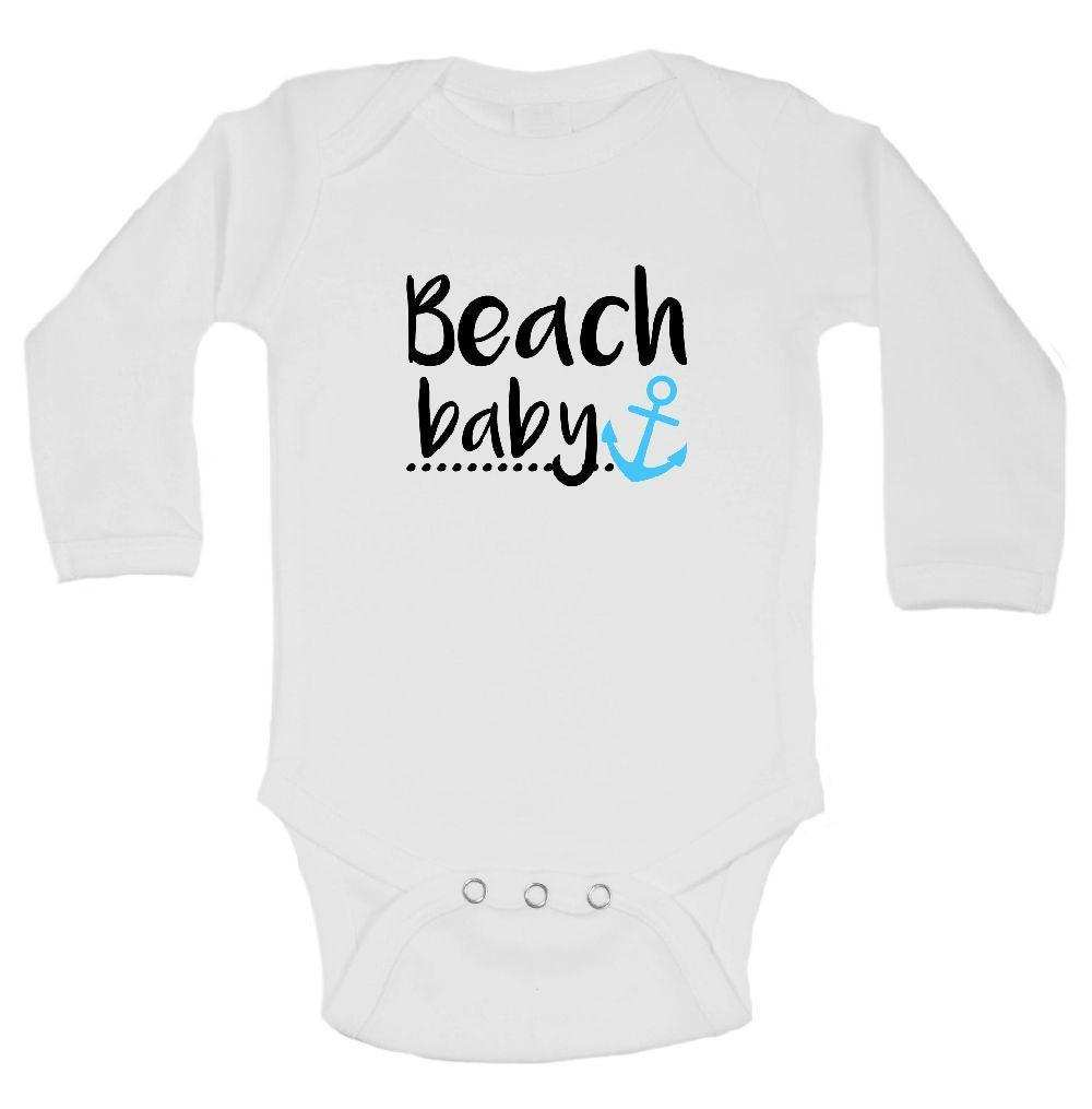 Beach Baby Funny Kids Onesie Funny Shirt Long Sleeve 0-3 Months