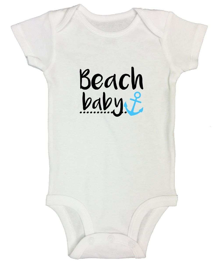 Beach Baby Funny Kids Onesie Funny Shirt Short Sleeve 0-3 Months