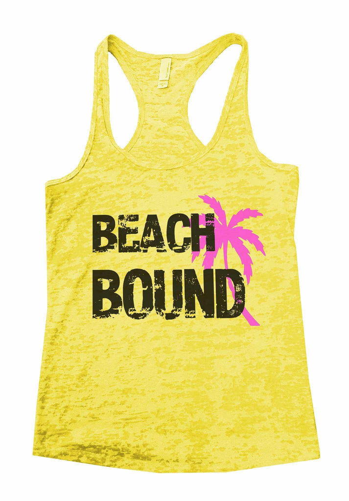 Beach Bound Burnout Tank Top By Funny Threadz Funny Shirt Small / Yellow