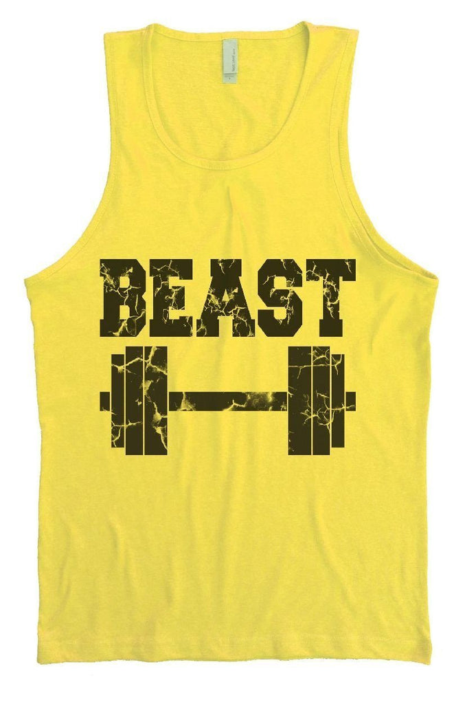 Beast Mens Tank Top By Funny Threadz Funny Shirt Small / Yellow