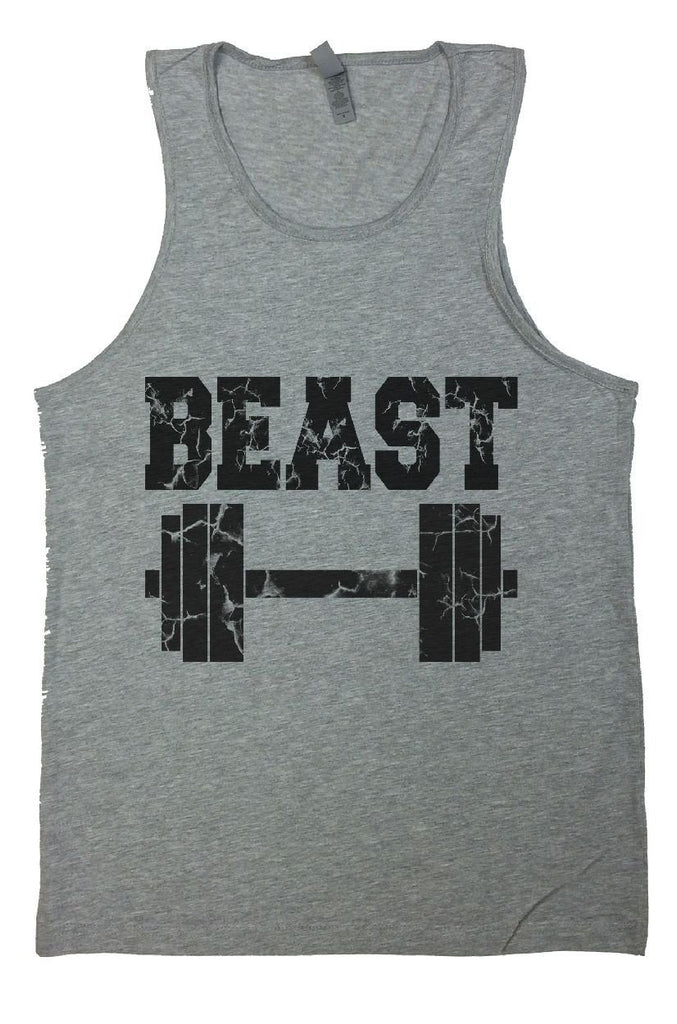 Beast Mens Tank Top By Funny Threadz Funny Shirt Small / Grey