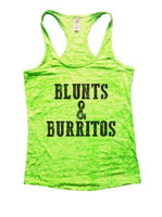 Blunts And Burritos Burnout Tank Top By Funny Threadz Funny Shirt Small / Neon Green