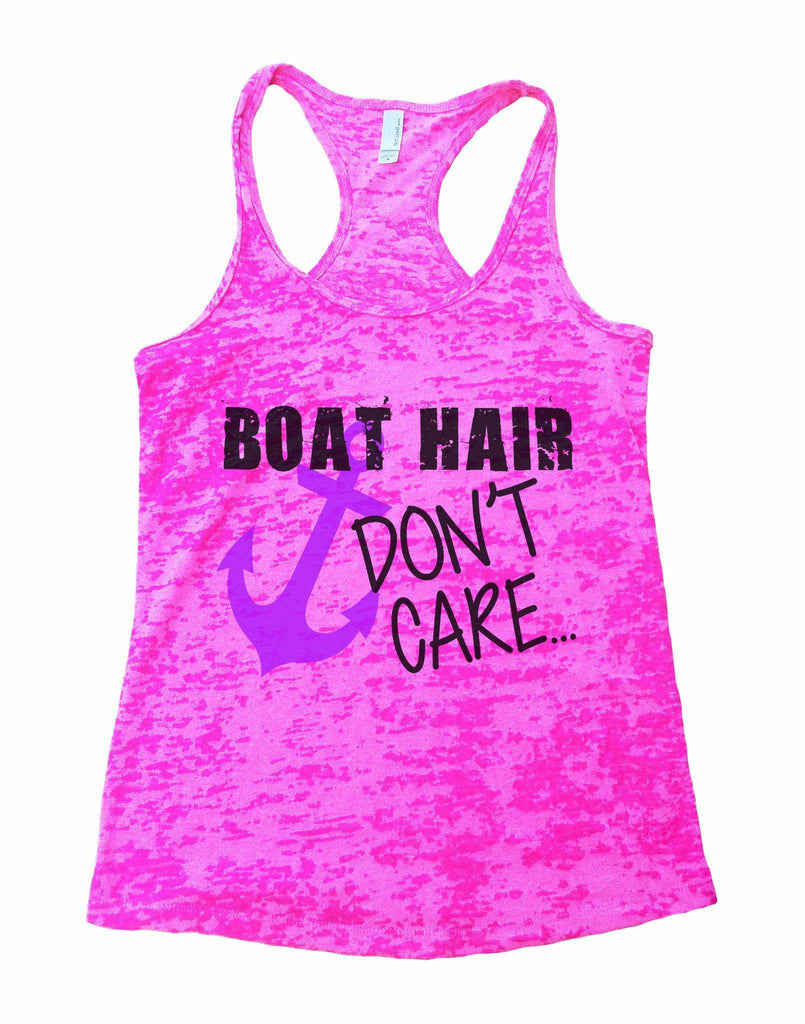 Boat Hair Don't Care Burnout Tank Top By Funny Threadz - FunnyThreadz.com