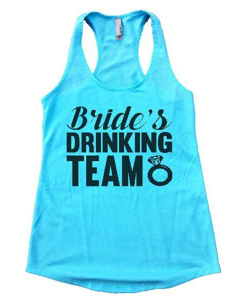 Bride's Drinking Team Womens Workout Tank Top Funny Shirt Small / Cancun Blue
