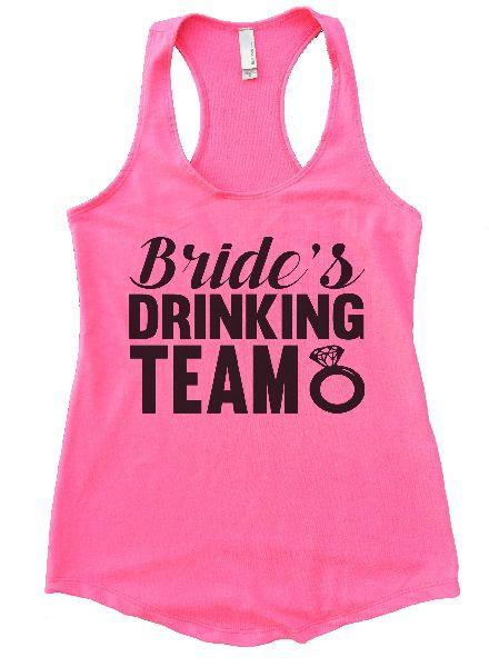Bride's Drinking Team Womens Workout Tank Top Funny Shirt Small / Heather Pink