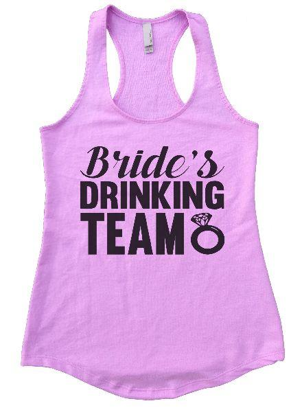 Bride's Drinking Team Womens Workout Tank Top Funny Shirt Small / Lilac
