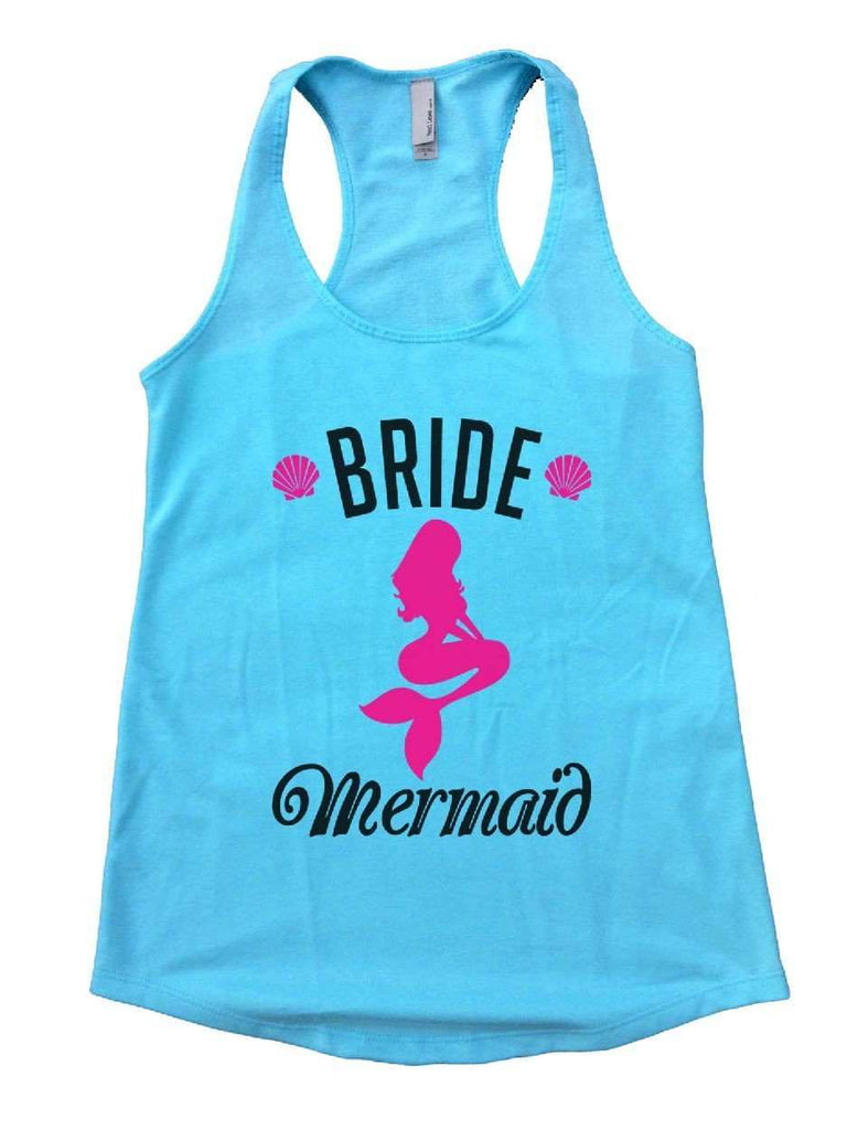 Bride's Mermaid Womens Workout Tank Top Funny Shirt Small / Cancun Blue