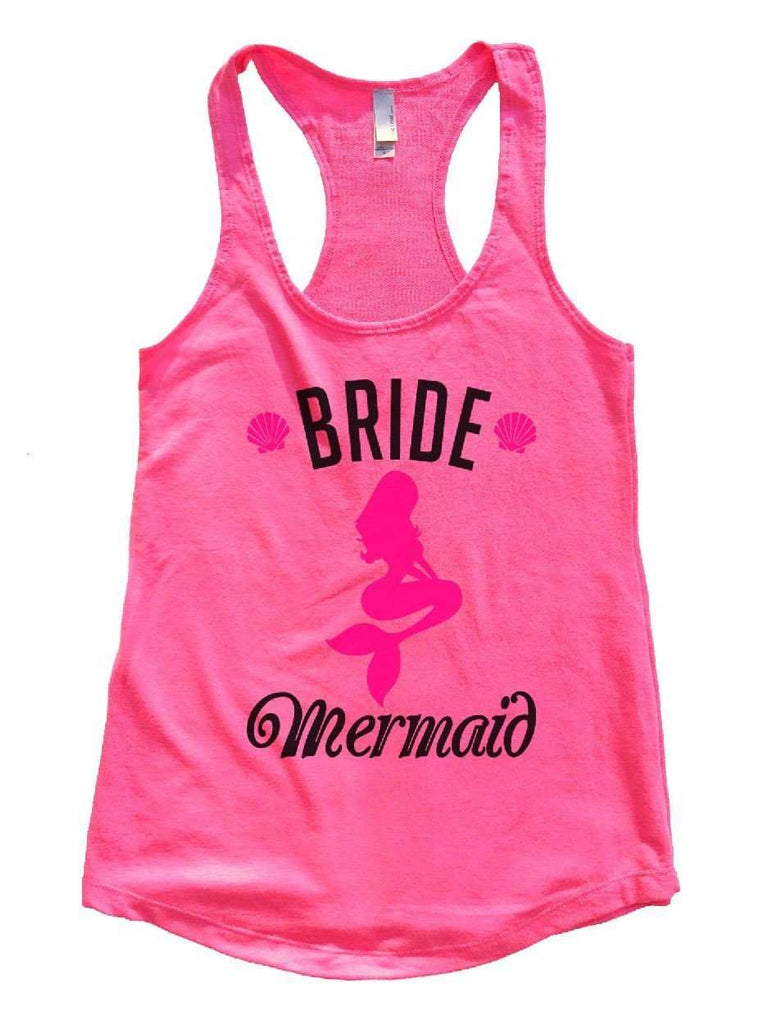 Bride's Mermaid Womens Workout Tank Top Funny Shirt Small / Hot Pink