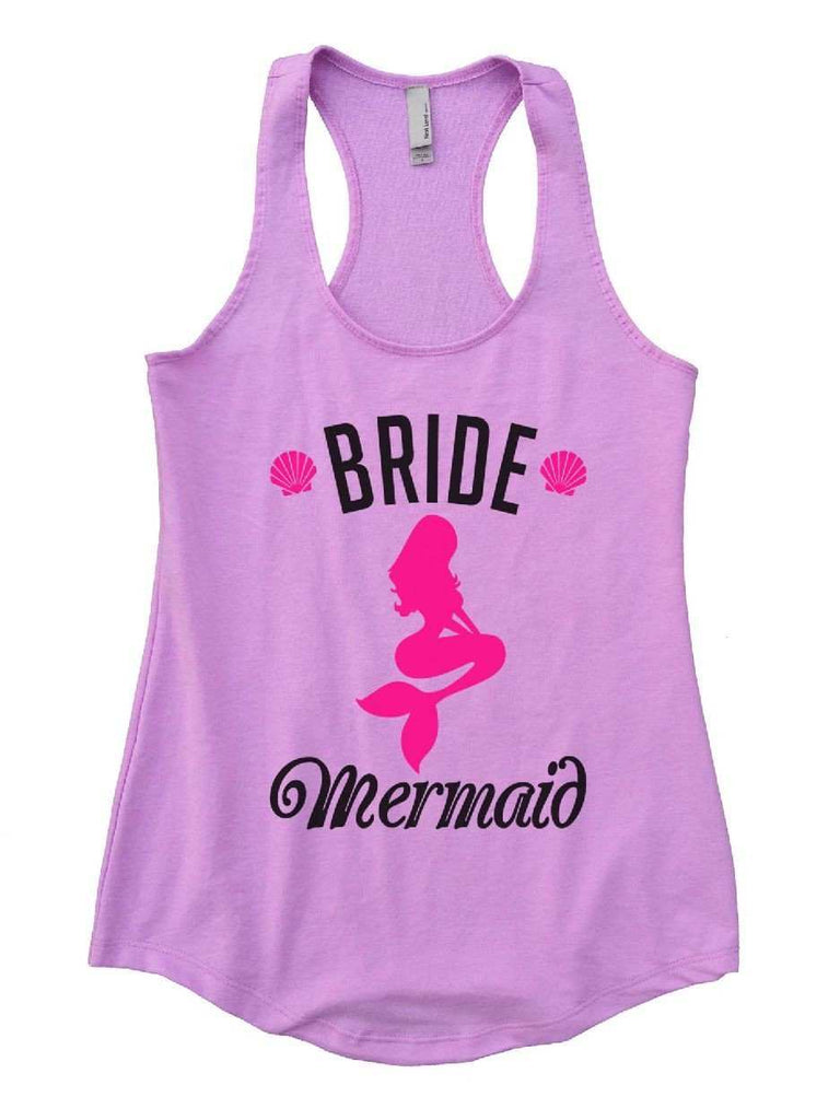 Bride's Mermaid Womens Workout Tank Top Funny Shirt Small / Lilac