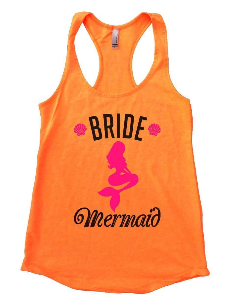 Bride's Mermaid Womens Workout Tank Top Funny Shirt Small / Neon Orange