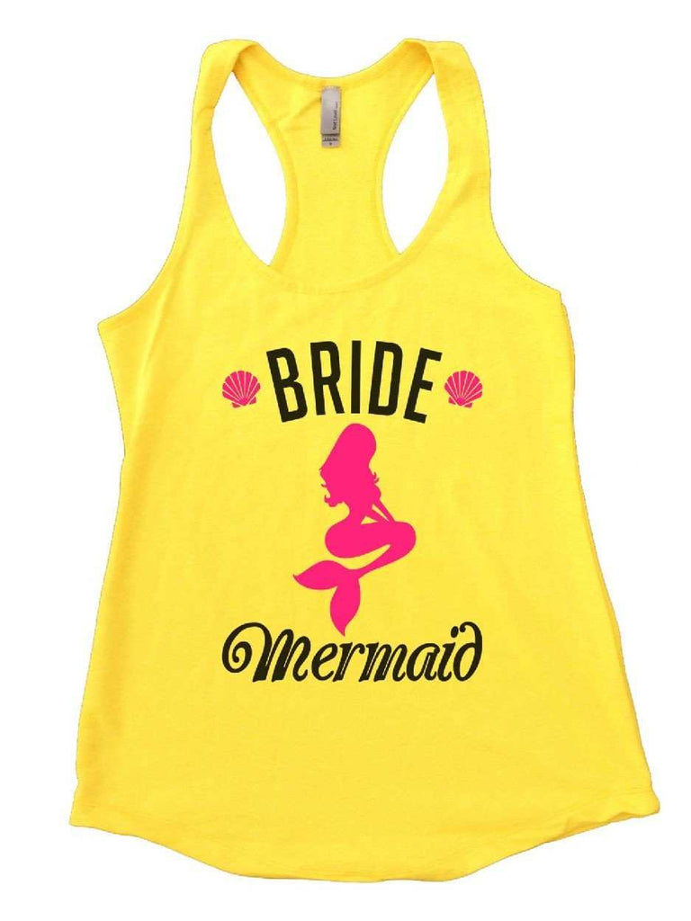 Bride's Mermaid Womens Workout Tank Top Funny Shirt Small / Yellow