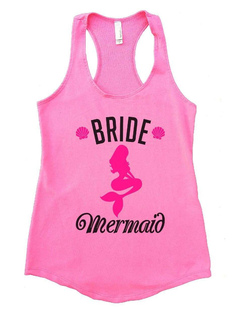 Bride's Mermaid Womens Workout Tank Top Funny Shirt Small / Heather Pink