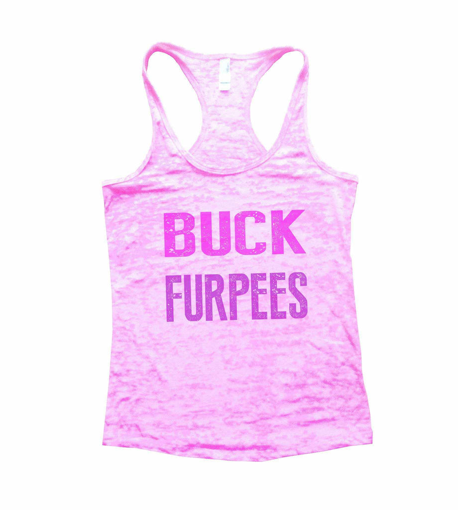Buck Furpees Burnout Tank Top By Funny Threadz Funny Shirt Small / Light Pink