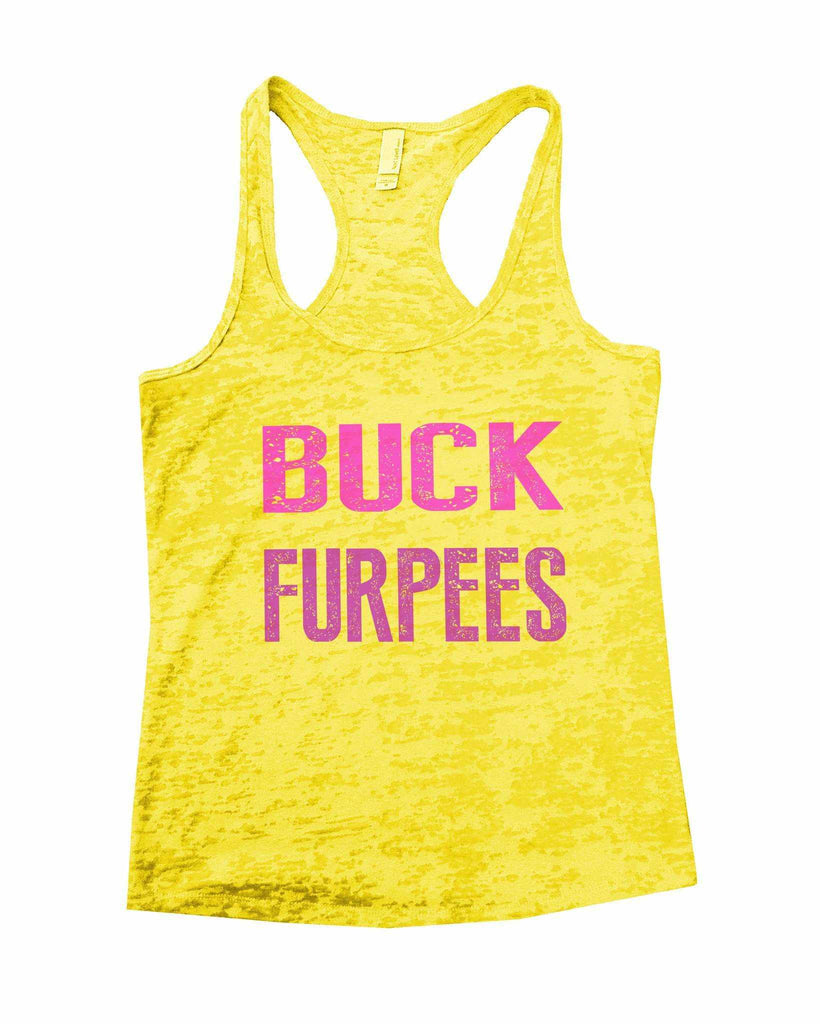 Buck Furpees Burnout Tank Top By Funny Threadz Funny Shirt Small / Yellow