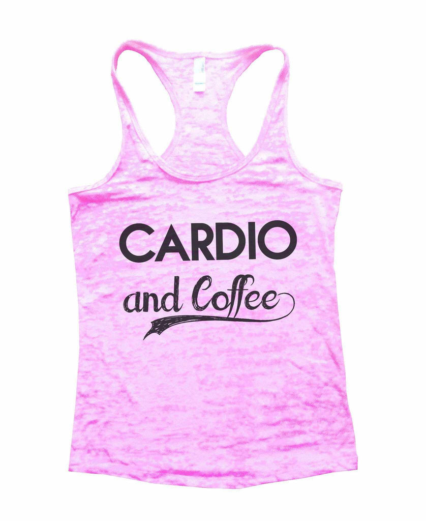 Cardio And Coffee Burnout Tank Top By Funny Threadz Funny Shirt Small / Light Pink