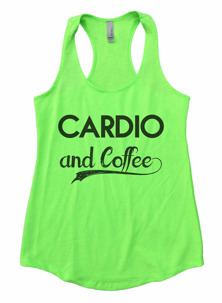 0c442878ff97e ... Cardio And Coffee Womens Workout Tank Top Funny Shirt Small   Neon  Green ...