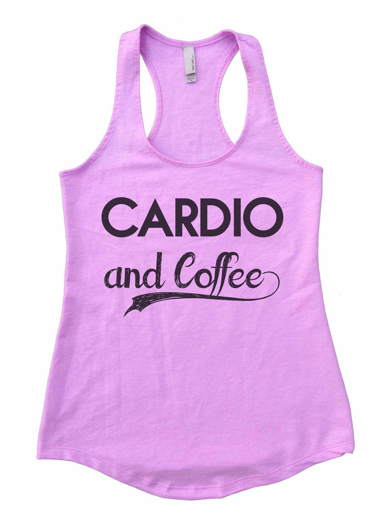 09472d094a13c ... Cardio And Coffee Womens Workout Tank Top Funny Shirt Small   Lilac ...